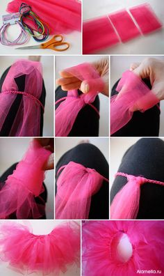 Baby dress tutu how to make 48 new Ideas Tutu En Tulle, Diy Tutu Skirt, Tulle Skirts, Tulle Poms, Tulle Fabric, Mini Skirts, Tutorial Tutu, Sewing Clothes, Diy Clothes