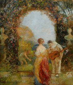 La Bienvenue, Gaston La Touche. French (1854 - 1913)