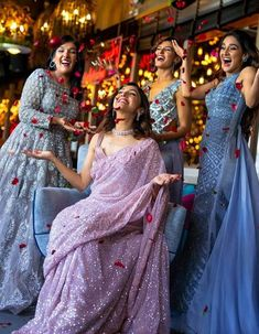 Neeti Mohan's Magical Pre Bridal Shoot With Her Sisters Will Give You Major Sibling Goals - HungryBoo Bridesmaid Poses, Indian Bridesmaids, Bridesmaid Outfit, Brides And Bridesmaids, Bridal Poses, Pre Wedding Photoshoot, Bridal Shoot, Wedding Shoot, Indian Wedding Photography Poses