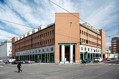 """Palazzo per uffici """"Casa Aurora"""", Aldo Rossi. © Angelo Morelli Aldo Rossi, Multi Story Building, Street View, Angelo, Image"""