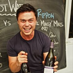 Eddie is visibly worked up about Rippon Wines tonight! Pinot Wars 2014 has begun in Hong Kong.