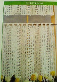 Vintage Crochet Cafe Curtain Pattern by MAMASPATTERNS on Etsy, $3.50
