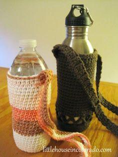 Crochet Water Bottle Holders Free Pattern