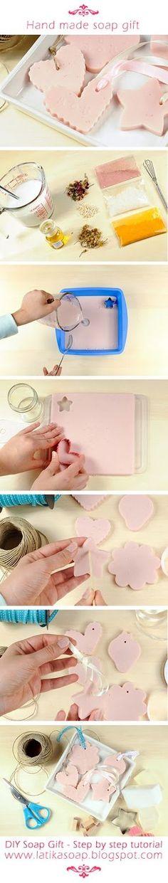 By Latikasoap.com DIY jabón de regalo - la idea del regalo del día de madres