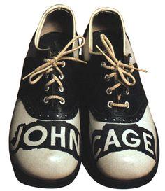 "Merce Cunningham's ""John Cage shoes."""