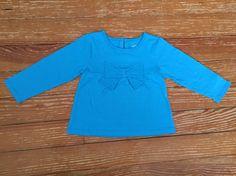 Carter's 24 months blue bow long sleeve shirt