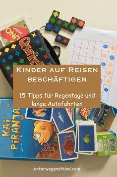 Reisespiele fürs Handgepäck und Ideen für kostenlose Kinderbeschäftigung