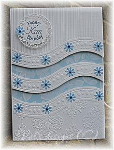 Handmade Birthday Cards, Greeting Cards Handmade, Embossing Folder Storage, Card Creator, Spellbinders Cards, Embossed Cards, Card Sketches, Flower Cards, Scrapbook Cards