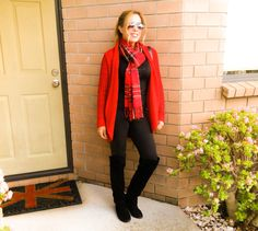 legging tartan and boots