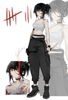Anime Oc, Manga Anime Girl, Cool Anime Girl, Dark Anime, Kawaii Anime Girl, Anime Chibi, Otaku Anime, Poses Anime, Drawing Anime Clothes