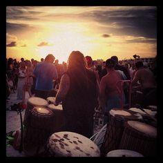 Sunday night at the Drum Circle, Siesta Beach, Siesta Key, Florida http://www.jeffwidmer.com/