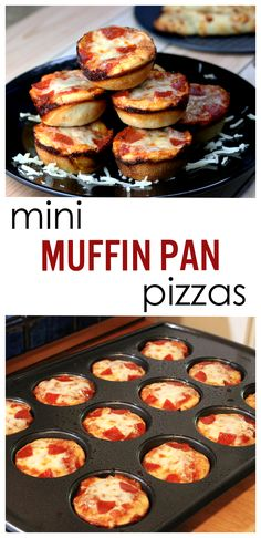 Super easy and tasty mini pizzas that can be made . - Super easy and tasty mini pizzas that can be made in a muffin pan! Pizza Snacks, Mini Pizza Recipes, Pizza Appetizers, Morning Glory Muffins, Little Muffins, Mini Muffins, Mini Pizzas, Nutella, Muffins Blueberry