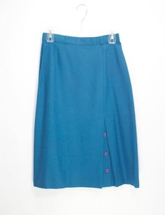 Gorgeous 1980s Teal Blue Skirt with Adorable by DIXIETEXTILES, $30.00