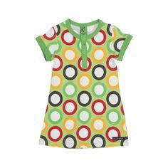 Villervalla barnkläder - klänning s/s RINGAR LIGHT AVOCADO