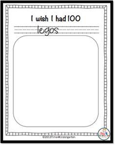 day of school activities, one hundredth day of school 100th Day Of School Crafts, 100 Day Of School Project, 100 Days Of School, School Holidays, Kindergarten Writing, Kindergarten Activities, Writing Activities, Kindergarten Graduation, Motor Activities