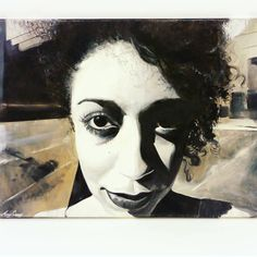 LOVING portraiture at the moment, heres one I made earlier. Henrietta - Black and White oil paint on Canvas. Currently on sale at… Original Artwork, Amy, Halloween Face Makeup, In This Moment, Black And White, Portrait, Canvas, Drawings, Painting