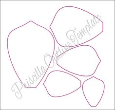 Extra Large Priscilla style and leaf paper flower printable templates. Templates make about a 17 inch flower in diameter unless altered. If you wish to have more formats compatible with cutting machines (SVGs) please click to visit my shop to view options --> CatchingColorflies.etsy.com This is a Digital File, INSTANT download. This listing includes: ♥ 4 sizes of Priscilla style petals plus a 5th XL petal extension in PDF format (Templates make about a 17 inch flower in diameter unless…