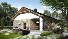 Projekt domu parterowego Daniel G2 energo o pow. 120,64 m2 z obszernym garażem, z dachem dwuspadowym, z tarasem, sprawdź! Gazebo, Pergola, 2 Storey House Design, Grey Houses, Villa, Construction, Exterior, Outdoor Structures, Mansions