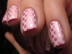 Chloe's Nails: Pink polka dots & the polish that started it all.......