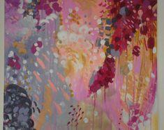 Original pintura acrílica abstracta titulada por ReverbyHannah