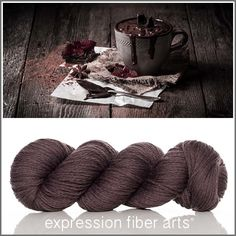 Limited edition - HOT CHOCOLATE - Cozy Worsted wool yarn from Expression Fiber Arts - new shades listed almost daily! Check back often.