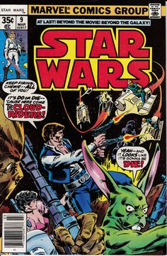 Star Wars 1977 Marvel 9 March 1978 Issue  Marvel by ViewObscura, $8.00