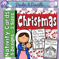 Christmas Cards ~ 2 sizes by Ponder and Possible | TpT