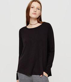 Image of Lou & Grey Signaturesoft Hi-Slit Tunic color Black