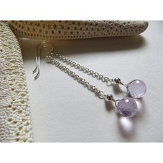 Amethyst Briolettes Earrings, Faceted Onion Briolettes Amethyst... ($31) ❤ liked on Polyvore featuring jewelry, earrings, amethyst jewelry, purple earrings, birthstone jewelry, purple jewelry and semi precious stone earrings