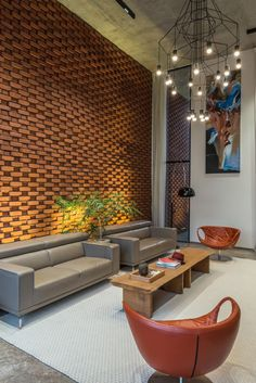 Brick facade house design work group - the architects diary. House Designs Exterior, Minimalism Interior, House Design, Interior Design, Lobby Interior Design, Interior Architecture, Apartment Interior Design, Brick Design, Stone Walls Interior