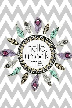 Cute chevron feather unlock screen! :) Made by krissteezy via Cocoppa.