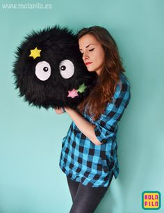This soot sprite pillow! | 22 Obnoxiously Cozy Things That'll Help You Embrace The Cold