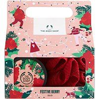 Festive Berry Duo - Scrub from head-to-toe with The Body Shop's Festive Berry Duo. Buff that beautiful body to silky-softness with the gently exfoliating Festive Berry Body Scrub and bath lily. Moisturize with a creamy dollop of moisturizing Festive Berry Body Butter, massaging into the skin so it feels smoother, softer and nourished. This little box of juicy treats will leave you smelling seriously festive. It's the perfect Christmas gift for treating yourself or someone special.This gift set:F Body Shop Christmas, Perfect Christmas Gifts, Body Butter, Shea Butter, Painted Skateboard, Raspberry Seeds, Some Body, Birthday Wishlist