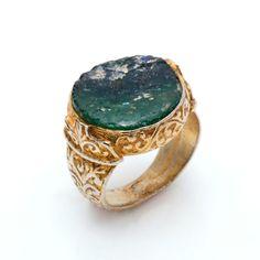 ¡Sólo una unidad! Exclusivo anillo étnico de Vidrio romano y bronce con más de 2.000 años de antigüedad por 69€.