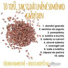 10 tipů, jak si dát lněné semínko každý den | DIFY blog Granola, Beans, Vegetables, Blog, Vegetable Recipes, Blogging, Muesli, Beans Recipes, Veggies