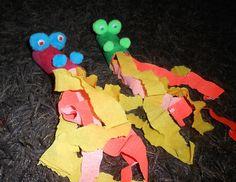Dragon crachant du feu - jouet en rouleau du papier toilettes