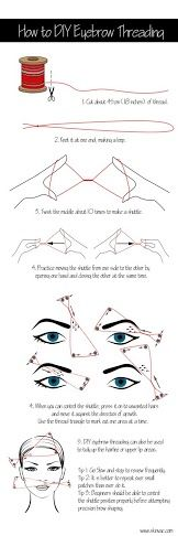 How To Do Eyebrow Threading At Home- Would you try it?