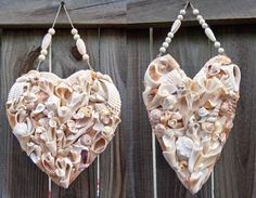 What to Do with My Collection of Seashells….DIY Heart Shaped Ornaments!