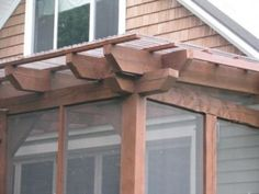 detail - screen porch w/polycarbonate roof