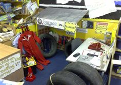Garage role-play area classroom display photo - Photo gallery - SparkleBox