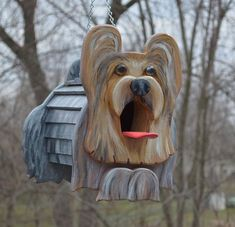 Yorkshire Terrier  Birdhouse or Bird Feeder by MyCountryHaven, $60.00