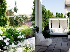 Loft mit Garten in Wien - Wiener Wohnsinnige Homestory Thuja, Outdoor Furniture, Outdoor Decor, Loft, Gardening, Home Decor, Garden, Asia, Ad Home