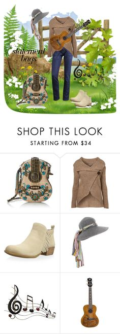"""""""statement bags contest"""" by skatiemae ❤ liked on Polyvore featuring Mary Frances Accessories, WalG, Lucky Brand, Missoni Mare, Benzara and statementbags"""