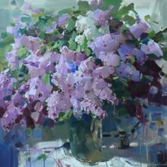 Натюрморт (still life) Russian Painting, Flower Art, Still Life, Amethyst, Floral Paintings, Oil Paintings, Texture, Crystals, Abstract