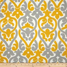 Premier Prints Indoor/Outdoor Alex Yellow/Grey from @fabricdotcom  Premier Prints outdoor fabrics are screen printed on spun polyester and have a stain/water resistant finish. These fabrics withstand direct sunlight for up to 500 hours insuring durablility and versatility, perfect for outdoor settings and indoor living in sunny rooms, great family friendly fabric! Create decorative toss pillows, chair pads, placemats, tote bags and much more. To maintain the life of the fabric bring indoors…