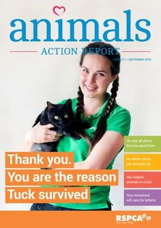 RSPCA NSW Animals Action Report - September  Find out how your incredible donations make a life-saving difference to the animals in RSPCA NSW's care.