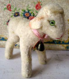 Vintage Steiff Mohair Lamby Lamb.  via Etsy.