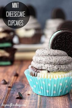 Mint Cheesecake Cupcakes | beyondfrosting.com | #oreo #cupcakes by Beyond Frosting, via Flickr