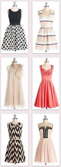 Pretty party dressses!