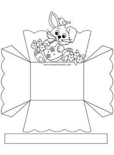 8 Cestinhas de Páscoa Fáceis de Fazer Para Imprimir - Blog Cantinho Alternativo Creative Crafts, Diy And Crafts, Crafts For Kids, Arts And Crafts, Pot A Crayon, Easter Coloring Pages, Diy Ostern, Diy Box, Spring Crafts